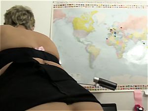 hardcore Omas - platinum-blonde German granny likes muddy office sex
