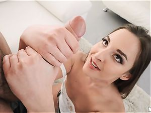 Hungarian Amirah Adara sits her raw twat on Romans thick spanish spunk-pump