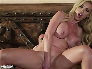 sex-positive mature honey Nikki Benz entices young boy in hotel