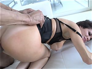 Veronica Avluv spills from the girth of this warm dick