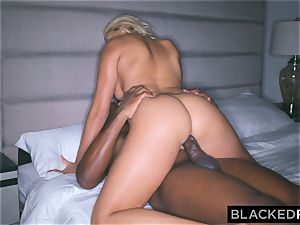BLACKEDRAW Actress bangs Mandingo's big black cock For Job