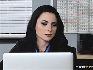Veruca James takes a foot of dick in the butt