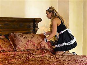 Sara Luvv enjoys hook-up with her steamy maid Olivia Austin