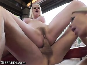 big-titted brit taunted by Rocco Siffredi and Kelly Stafford