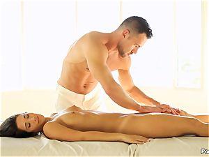 Eva Lovia likes an after massage plumbing