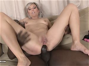 ebony and white big black cock jism gulping tramp enjoys black fuckpole