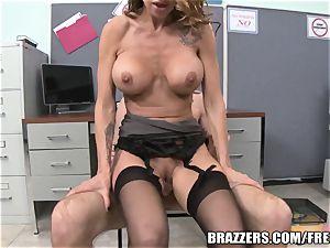 Office harassment instructing turns boob banging & blowjob ses
