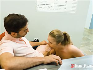 Lena Paul hankers some large firm spunk-pump in her scorching fuckbox