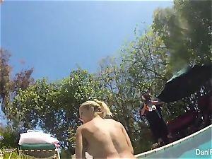 Dani Daniels and Cherie DeVille go for a swim