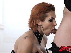 redhead mummy Savana Styles disciplined with tearing up