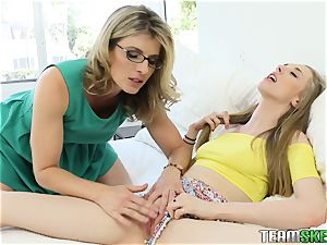Cory gets caught frolicking with her stepmoms toys