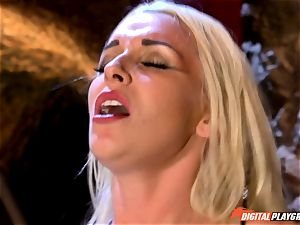 provocative blonde Stevie Shae getting into ball-sac deep trouble
