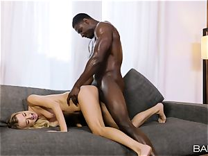 Natalia Starr pumped in her twat by a big black cock