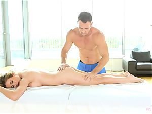 Corrina Blake is deeply pounded after a hot massage