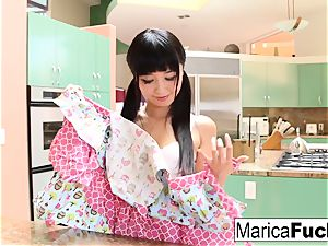 chinese bombshell Marica Hase sucks and tears up