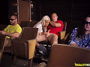 Cinema stiffy throating huge-chested Bridgette B
