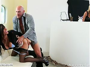 Charisma Cappelli, Romi Rain - rigid fucky-fucky milf threesome