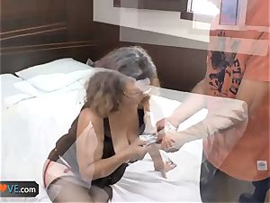 AgedLovE Latina plump grandma fuckin' lad