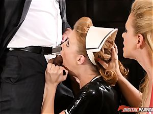 poon hammering the insane fuck-a-thon gimp maid Britney Amber