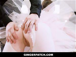 GingerPatch - redhead Ballerina railing Judges big spunk-pump
