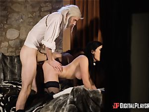 stunners Ella and Olive desire tear up with monster prick