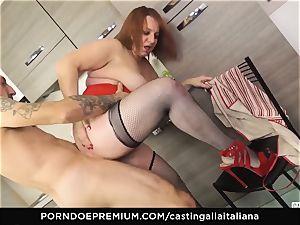 casting ALLA ITALIANA - Italian mature deep anal invasion smash