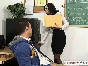 brunette tutor Kendra fervor gets facialized