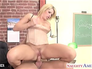 Sinfully professor Brooke Haven pounding her student