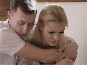 Absolutely off the hook FFM scene with 2 incredible blonde cuties