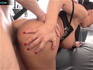 Lisa Ann hard-core pulverize with her boss