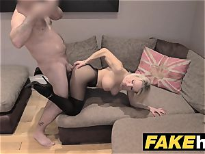 faux Agent UK ultra-cute ultra-kinky mummy with hairless cunt