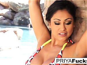 chesty Priya Rai gets all humid outside by the pool