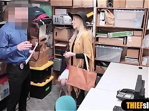 two nubile shoplifter woman got caught stealing undergarments