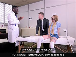 porn ACADEMIE - ass-fuck three-way with blonde student