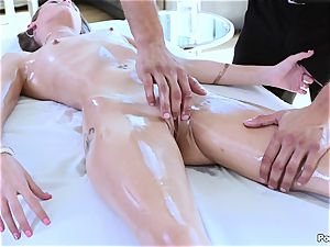 rubdown table pulverize with Kacy Lane