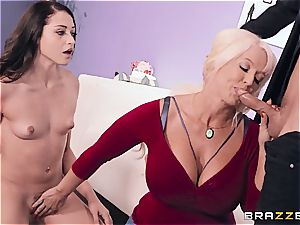 buxomy mother helps stepdaughter during porno audition