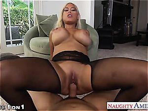 Housewife Bridgette B. gets ginormous jugs smashed in pov