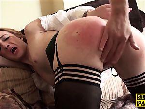 Ginger british sub mega-slut dominated in stocking