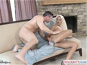 curvaceous Bridgette B. filled with his man-meat